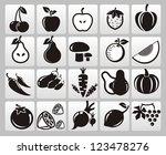 fruit icon   Shutterstock . vector #123478276