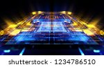 empty podium. disco panel. rays ... | Shutterstock . vector #1234786510