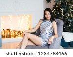 beautiful girl near the... | Shutterstock . vector #1234788466