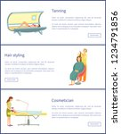 tanning and hair styling... | Shutterstock .eps vector #1234791856