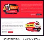 black friday sale off promo... | Shutterstock .eps vector #1234791913