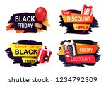 discount and offer on black... | Shutterstock .eps vector #1234792309