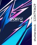 sporty abstract background | Shutterstock .eps vector #1234793629