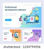 development webinar  electronic ... | Shutterstock .eps vector #1234794556