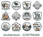 safari adventure and hunting... | Shutterstock .eps vector #1234796260