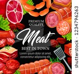 meat products poster for... | Shutterstock .eps vector #1234796263