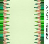 green pencils on paper texture... | Shutterstock . vector #123479764