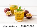 fresh and iced passion fruit... | Shutterstock . vector #1234803880