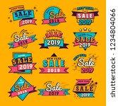 2019 new year sale badge vector ... | Shutterstock .eps vector #1234804066
