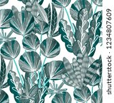 creative seamless pattern with... | Shutterstock . vector #1234807609
