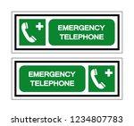emergency telephone symbol sign ...   Shutterstock .eps vector #1234807783
