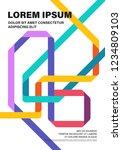 abstract modern art layout...   Shutterstock .eps vector #1234809103