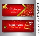 gift voucher template for... | Shutterstock .eps vector #1234810129