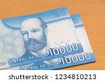 chilean money notes. chile ten... | Shutterstock . vector #1234810213