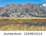 a view of kluane lake in yukon... | Shutterstock . vector #1234814113