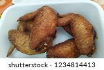 plate of chicken wings on... | Shutterstock . vector #1234814413