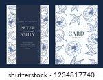 wedding invitation  floral... | Shutterstock .eps vector #1234817740