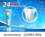 whitening toothpaste ad. teeth... | Shutterstock .eps vector #1234817806