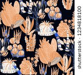 creative seamless pattern with... | Shutterstock . vector #1234818100