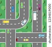 top view highway traffic in... | Shutterstock . vector #1234819000