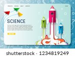 science landing page website... | Shutterstock .eps vector #1234819249