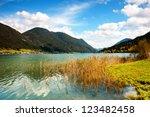beautiful lake in austria | Shutterstock . vector #123482458
