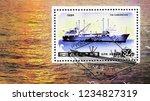 moscow  russia   october 6 ... | Shutterstock . vector #1234827319