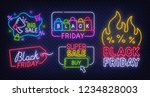 black friday label. set of... | Shutterstock .eps vector #1234828003