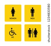 wc toilet vector icon | Shutterstock .eps vector #1234833580