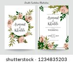 floral wedding invitation... | Shutterstock .eps vector #1234835203