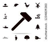 a hammer icon. farm icons...