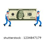 movers and large money. porters ... | Shutterstock .eps vector #1234847179