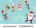 merry christmas greeting card... | Shutterstock .eps vector #1234848310