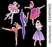 the ballerina girls. beautiful... | Shutterstock .eps vector #1234852603