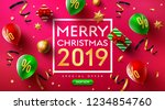merry christmas 2019 promotion... | Shutterstock .eps vector #1234854760