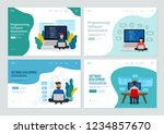 set of landing page template... | Shutterstock .eps vector #1234857670
