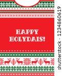 winter holidays background.... | Shutterstock .eps vector #1234860619