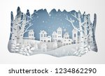 winter snow urban countryside... | Shutterstock .eps vector #1234862290
