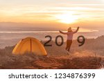 happy new year 2019 concept.... | Shutterstock . vector #1234876399
