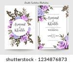 floral wedding invitation... | Shutterstock .eps vector #1234876873
