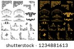 floral ornaments border and... | Shutterstock .eps vector #1234881613