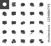speech bubbles vector icons set ... | Shutterstock .eps vector #1234884793