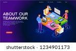 startup team. people interact... | Shutterstock .eps vector #1234901173