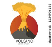 vector illustration volcanic... | Shutterstock .eps vector #1234906186