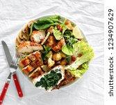 healthy food concept. food bowl ... | Shutterstock . vector #1234907629