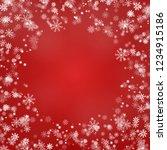 snowflake round border vector... | Shutterstock .eps vector #1234915186