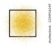 gold glitter spray with frame.... | Shutterstock .eps vector #1234916149