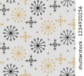 hand drawn snowflake seamless... | Shutterstock .eps vector #1234920256