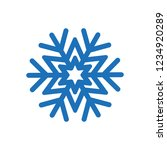 snowflake icon symbol vector | Shutterstock .eps vector #1234920289
