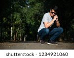 young man  on the street  | Shutterstock . vector #1234921060